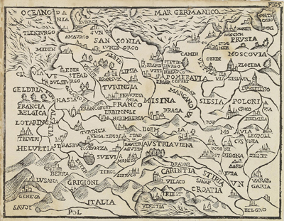 Каталог карт 1660-Antinio-Pisarri-Bologna-Rossaccio-fragment-2-mini